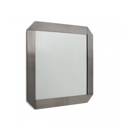Vintage stainless steel mirror by Valenti, 1970s
