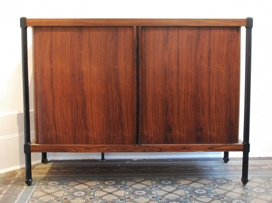 2 x Italian Rosewood Chest of Drawers With Shutters, 1960s