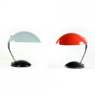 Red & Gray 1964/1 Table Lamps by Drukov, Czechoslovakia 1964