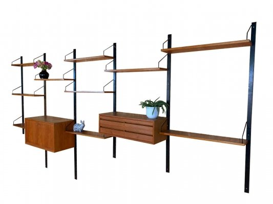 Royal System wall unit by Poul Cadovius for Cado, Denmark 1960's