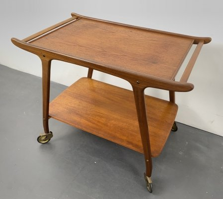 Mid-Century Teak Serving Trolley, Denmark 1960s