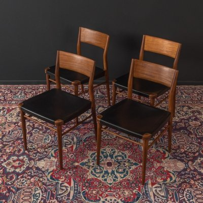 Set of 4 dining chairs by Georg Leowald for Wilkhahn, 1950s
