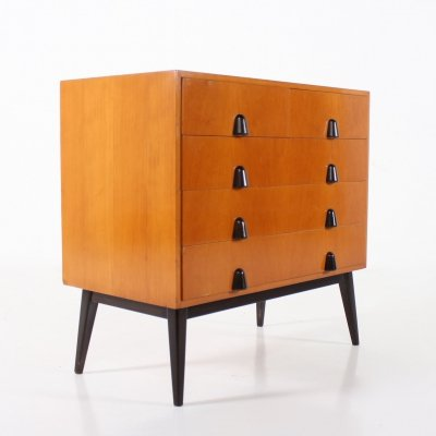 Fruitwood modernist chest of drawers, Germany 1950's