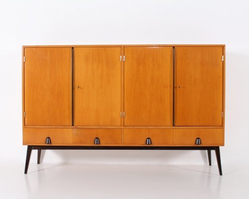 Fruitwood Modernist sideboard, Germany 1950's