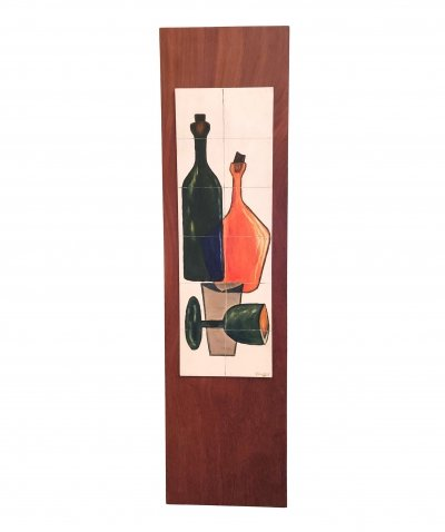 Still Life Paint on Wood by V. Mulders, 1960s