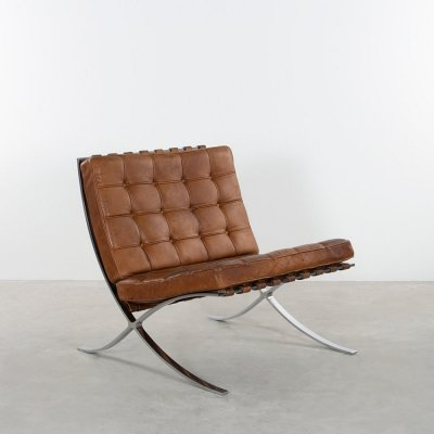 Barcelona lounge chair by Ludwig Mies van der Rohe for Knoll, 1970s