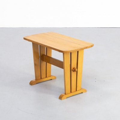 60s pine side table