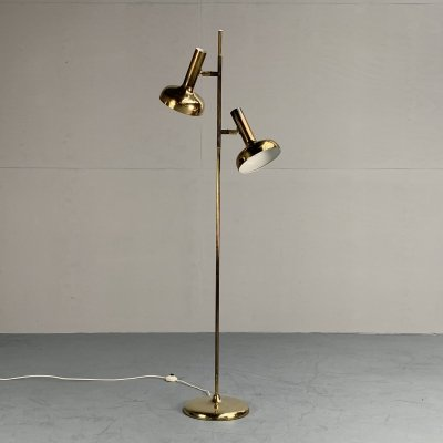 All brass floor lamp by Sölken Leuchten, Germany 1960s
