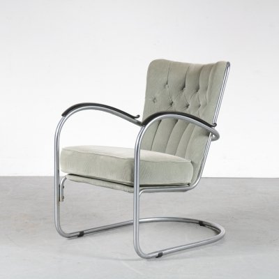 Model 412 chair by W.H. Gispen for Gispen, the Netherlands 1950s