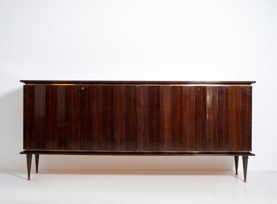 Sideboard by Melchiorre Bega in in precious wood & brass, 1950s