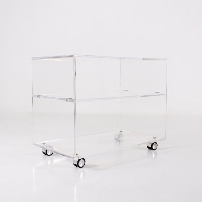 Plexiglass serving trolley, 1970's