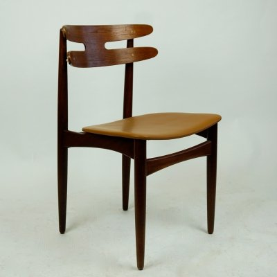 Set of Four Danish Midcentury Mod. 178 Teak Dining Chairs by Johannes Andersen