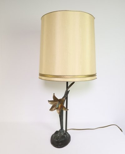 Large bronze table lamp, 1970s