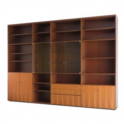 Large vintage mid century teak bookcase / wall unit by Behr, 1960s