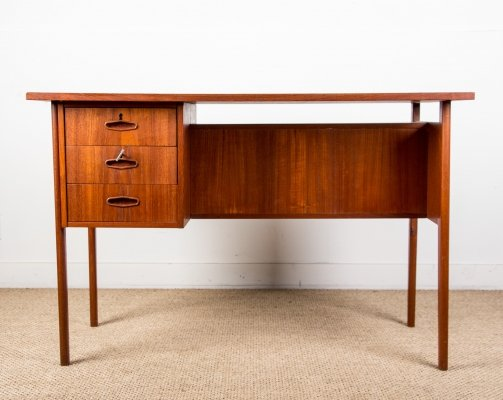 Small double sided Teak Danish Desk, 1960