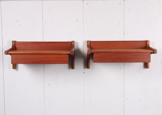 Pair of Danish teak nightstands by Børge Mogensen, 1960s