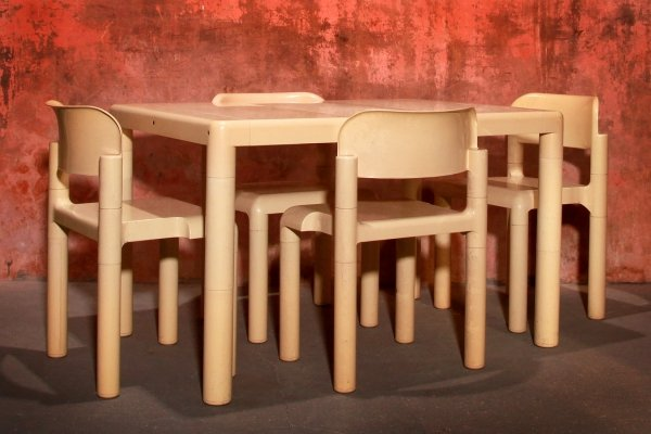 Vintage Dining set by Eero Aarnio for Upo Finland, 70s