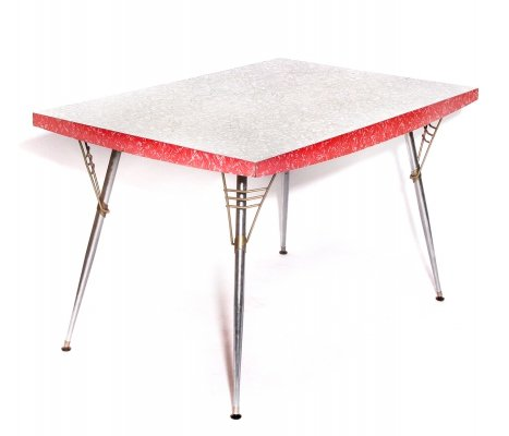 Vintage Mid Century Formica Dining Table