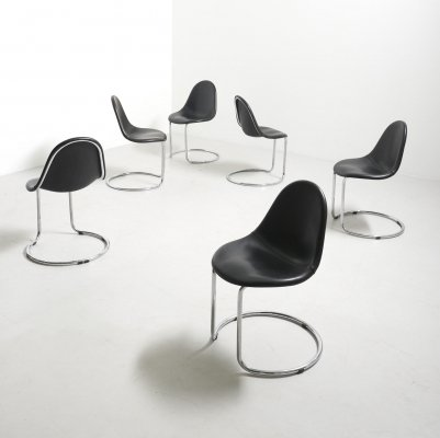 Set of 6 'Maya' Dining Chairs by Giotto Stoppino for Bernini, Italy 1960's