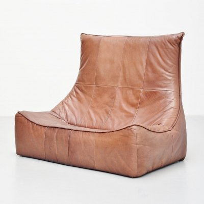 Brown leather Rock sofa by Gerard van den Berg for Montis Holland, 1970