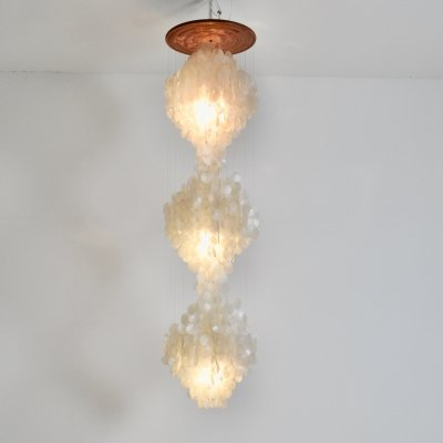 Chandelier in mother of pearl, 1970s