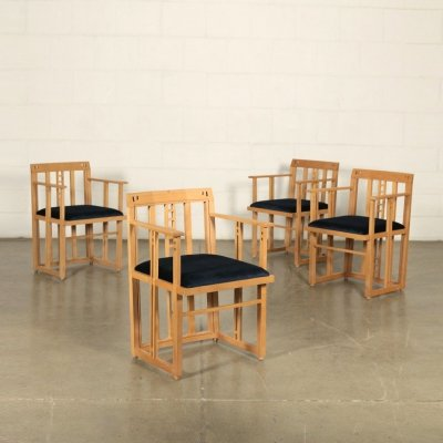 Set of 4 Chairs by Umberto Asnago for Giorgetti