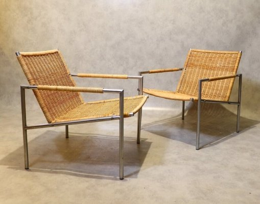 Pair of Martin Visser SZ01 Lounge Chairs for 't Spectrum, 1960s