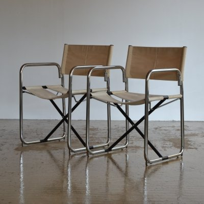 Pair of Börge Lindau & Bo Lindekrantz folding chairs