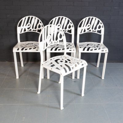 Set of 4 'Hello there' dining chairs by Jeremy Harvey for Artifort