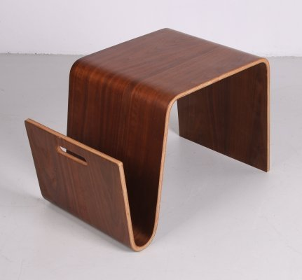 Side table with magazine rack, 1980s