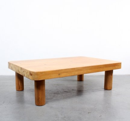 Solid pine vintage coffee table