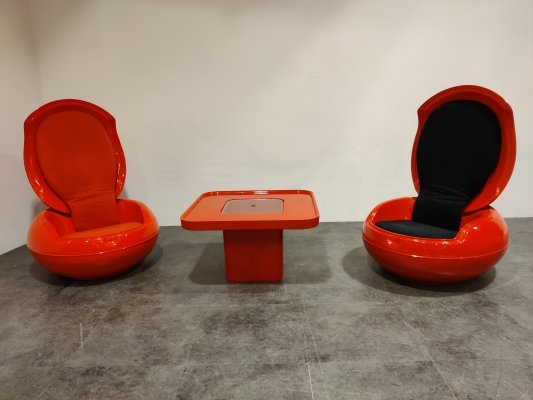 Peter Ghyczy egg chair set, 1960s