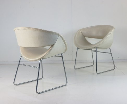 Pair of 'Fresco' easy chairs by Rudolf Wolf for Rohé Noordwolde