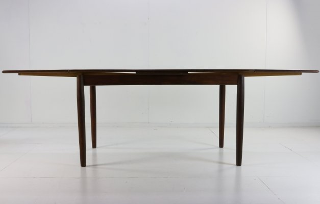 Danish design teak dining table with two extensions, 1960s