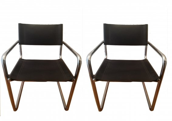 Pair of MG5 Armchairs by Mart Stam for Matteo Grassi, 1970's