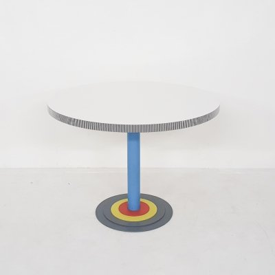 Antonia Astori for Driade round 'Kroma' dining table, Italy 1983