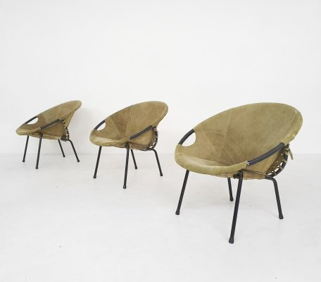 Three 'balloon' chairs by Lusch en Co, Germany 1960's