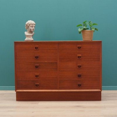 Teak chest of drawers by Brouer Møbelfabrik, 1960s