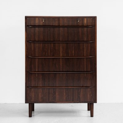 Midcentury Danish chest of 5+2 drawers in rosewood, 1960s
