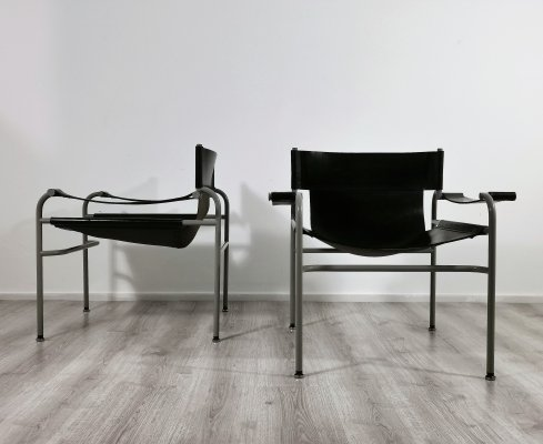 Pair of Easy Chairs ( Vane-2) by Walter Antonis for I-form, 1980's