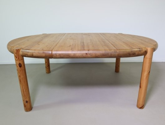 Extendable pinewood dining table by Rainer Daumiller, 1970s