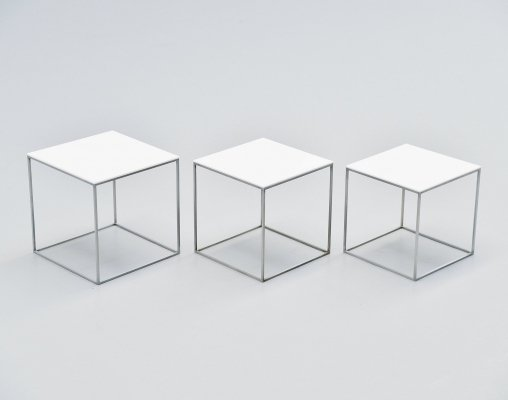 Poul Kjaerholm PK71 nesting table set, Denmark 1957