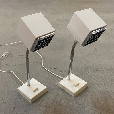 Set of 2 Kuben desk lamps by Hans Agne Jakobsson for Elidus Sweden, 1970s