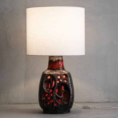Fat Lava ceramic table lamp by Hustadt Leuchten, 1970s