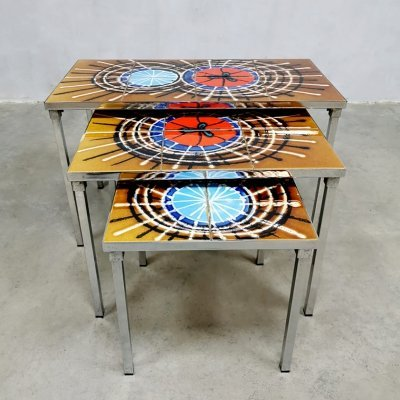 Vintage 'multi-colored' mimiset / nesting tables by Belarti, 1960s