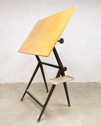 Industrial Dutch design drawing table by Friso Kramer for Ahrend de Cirkel, 1950s