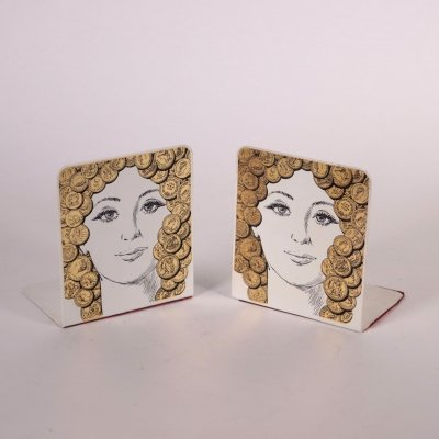 Pair of 1960s Bookends by Piero Fornasetti