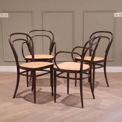 Set of 4 Thonet No. 214 Chairs, 1970s