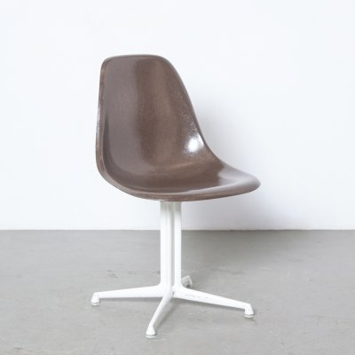 Eames DSL La Fonda Side Chair in brown, 1960s