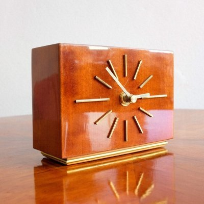 Wooden table clock, 1960s